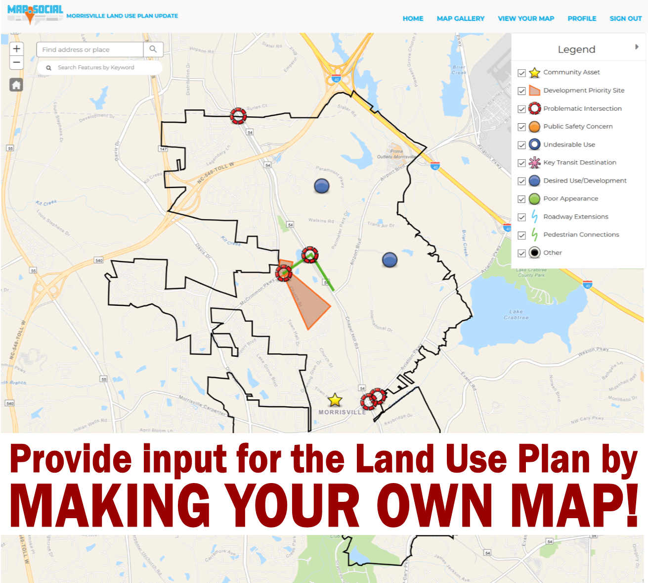 Make Your Own Map For The Land Use Plan Update News List Town