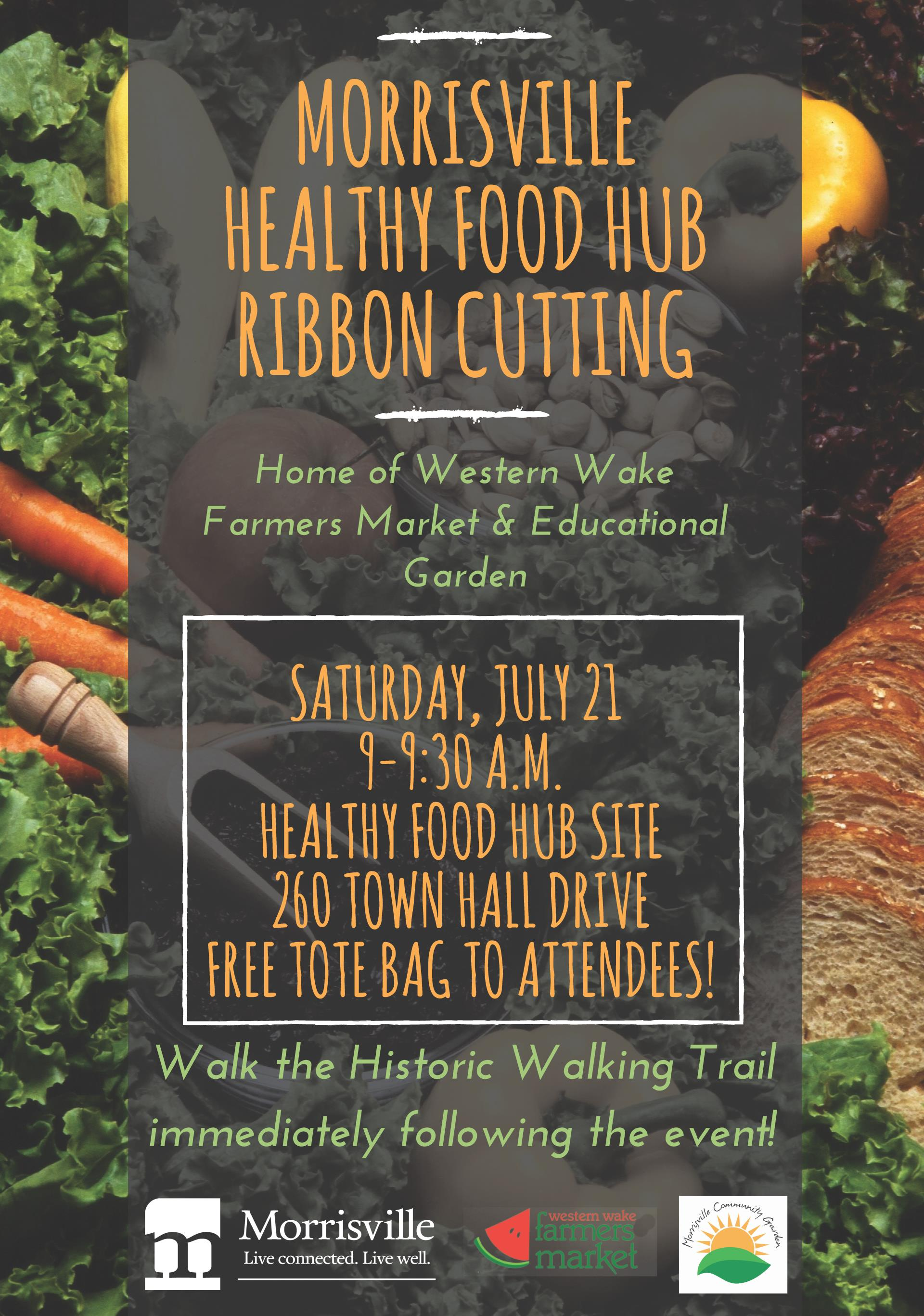 Healthy Food Hub Ribbon Cutting Flyer