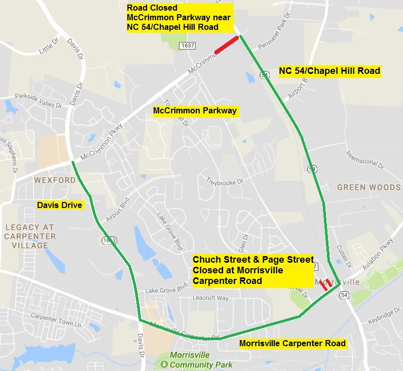 Traffic Alert Temporary Closure Delayed For Mccrimmon Parkway Near